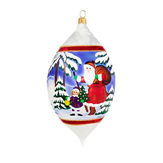 Vintage Euro Santa Drop Ornament