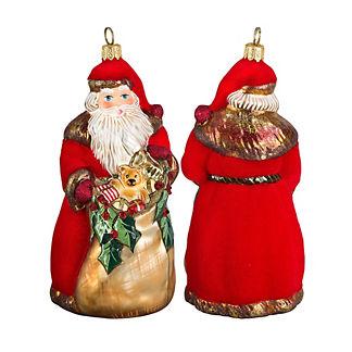 Vintage Sepia Bratislava Santa Ornament