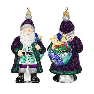 Galician Santa Purple Beaded Version Ornament