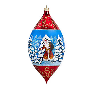 Woodland Santa Drop Ornament