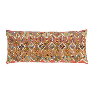 Kenya Embroidered Decorative Lumbar Pillow