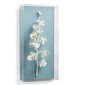 White Orchid Wall Art I