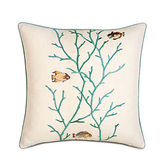 Suwanee Embroidered Sea Decorative Pillow