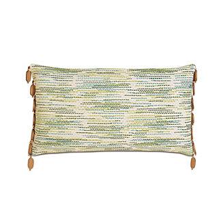 Suwanee Seagrass Bead Trim Decorative Pillow