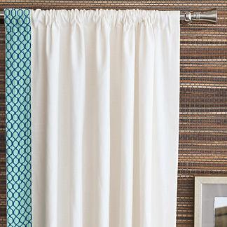 Malia White Curtain Panel