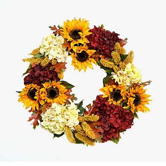 Garnet Burst Wreath
