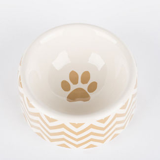 Chevron Dog Bowl