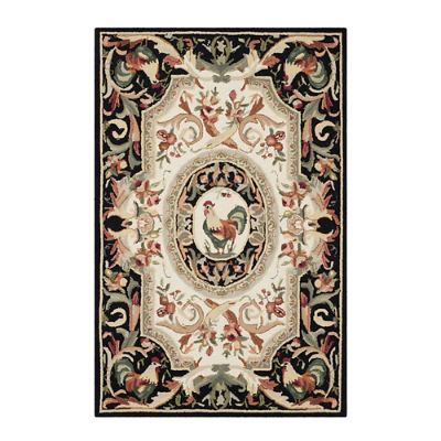 Rooster Easy Care Rug   Frontgate