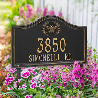 Designer Arch Lawn Address Plaque