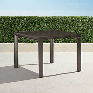 Newport Aluminum-top Square Dining Table