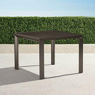 Newport Aluminum-top Square Dining Table