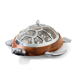 Turtle Chip and Dip Server with Mesh Dome