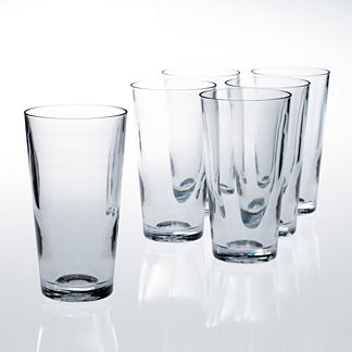 16 oz. Beer Glasses, Set of Six