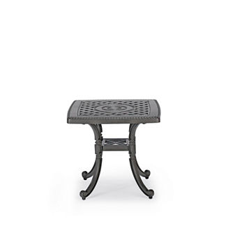 Carlisle Cast-top Side Table in Slate Finish