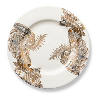 Caskata Bohemian Paisley Rimmed Dinner Plate