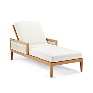 Brizo Chaise Lounge with Cushions by Porta Forma
