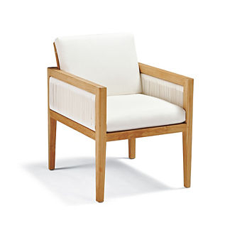 Brizo Dining Arm Chair with Cushion by Porta Forma