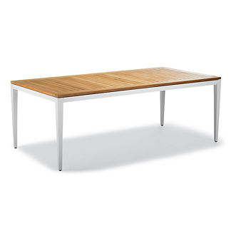 Brizo Aluminum/Teak Dining Table by Porta Forma