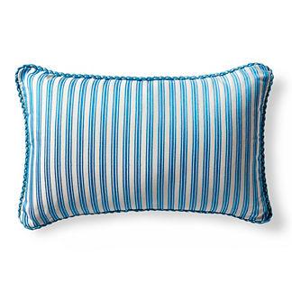 Belmar Stripe Air Blue Outdoor Lumbar Pillow