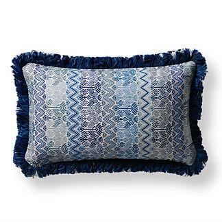 Talara Denim Outdoor Lumbar Pillow