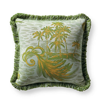 Paradise Isle Ginkgo Outdoor Pillow