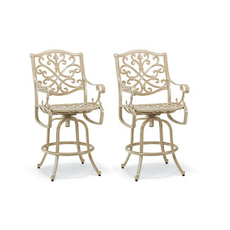 Set of Two Orleans Swivel Bar Stools in Biscayne Finish