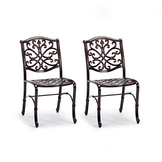 Orleans Set of Two Bistro Chairs in Chocolate Finish