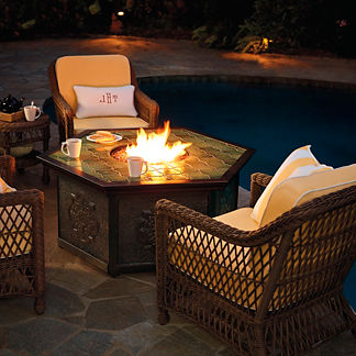 Hampton 5-pc. Chat Set with Villa Custom Fire Table