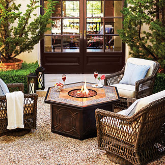 Hampton 5-pc. Chat Set with Verona Custom Fire Table