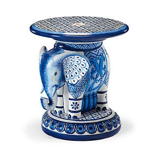 Painted Elephant Umbrella Table