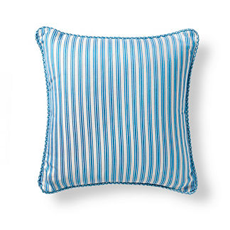 Belmar Stripe Air Blue Outdoor Pillow