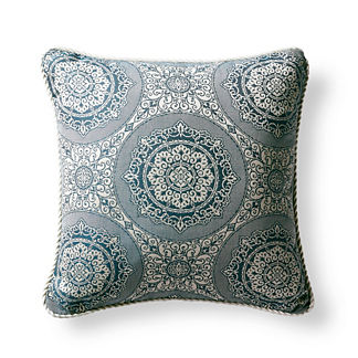 Chardonnay Cornflower Outdoor Pillow