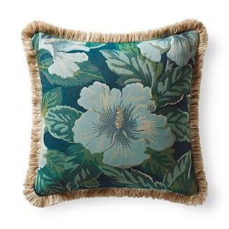 Hibiscus Beauty Ocean Outdoor Pillow