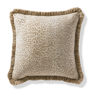 Leopard Luxe Sand Outdoor Pillow