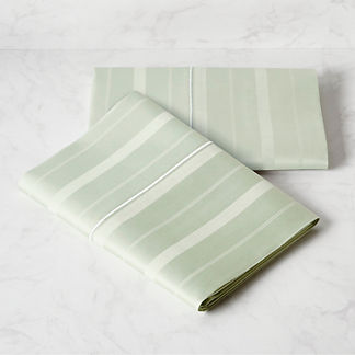 Resort Variegated Stripe Pillowcases, Set of Two