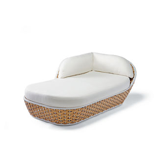 Ravello Left-facing Chaise with Cushions by Porta Forma, Special Order