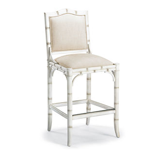 New Haven Bar Height Bar Stool in Vintage White (30