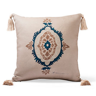 Canvas Ironwork Sand Outdoor Throw Pillow