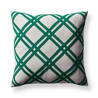 Retro Lattice Jade Outdoor Pillow