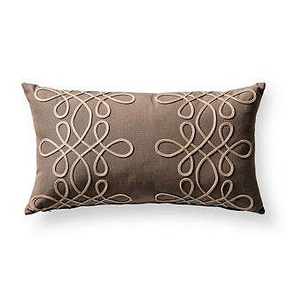 Spiral Glam Sand Outdoor Lumbar Pillow
