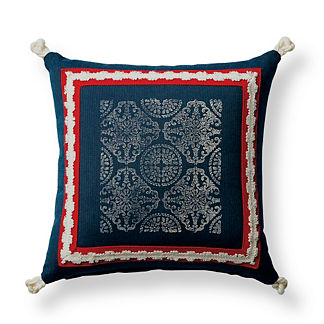 Positano Indigo Outdoor Pillow