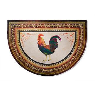 Victory Rooster Half-round Kitchen Mat