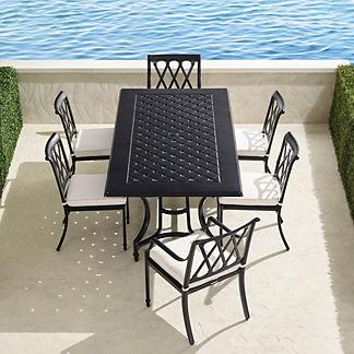 Grayson 7-pc. Rectangular Dining Set in Black Finish