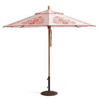 Resort Chic Peony Designer Umbrella