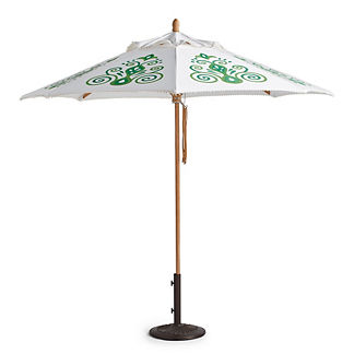 Resort Chic Jade Designer Umbrella