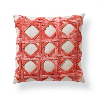 Velvet Caning Decorative Pillow