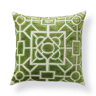 Garden Velvet Applique Throw Pillow