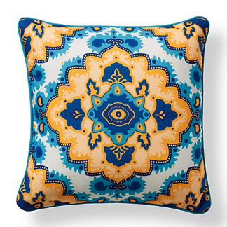 St. Barts Diamond Ocean Outdoor Pillow