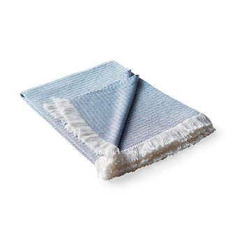 Sunbrella Micro Chevron Outdoor Throw