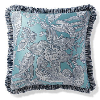 Bermuda Breeze Chambray Outdoor Pillow